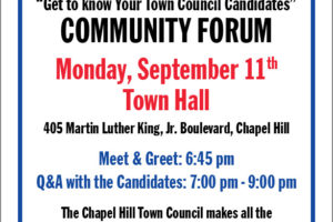 Chapel Hill Candidates Forum